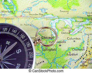 Map And Compass Compass On Map Of Usa Stock Photo Search - Usa map with compass