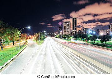 chicago, op de avond