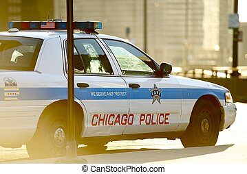 Chicago Police Cruiser. Safety Enforcement Vehicle. Chicago,...