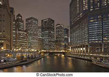Chicago River Night