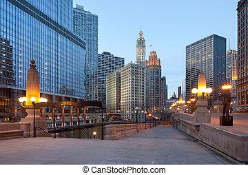 Chicago River riverwalk