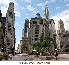 Chicago Riverfront Buildings