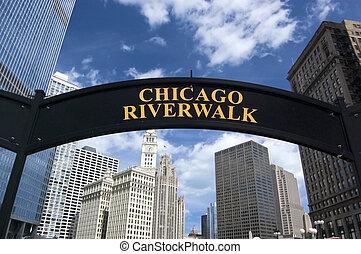 Chicago Riverwalk in the summertime