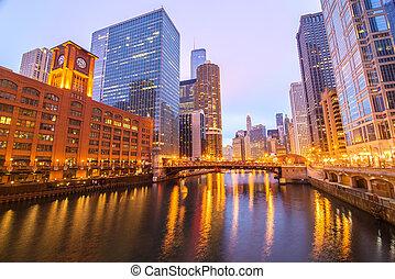chicago rzeka, prospekt