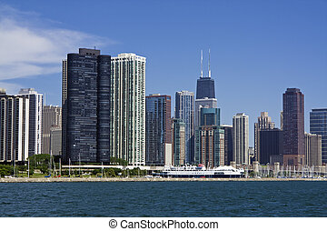 Chicago seen from the lake