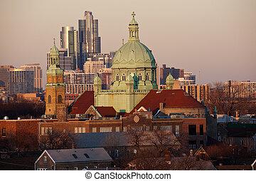 chicago, seite, süden, kirche