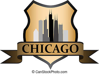 Chicago seven crest - City of Chicago crest with high rise...