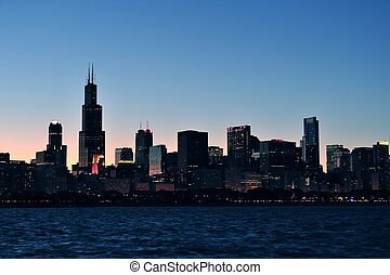 chicago, silhouette