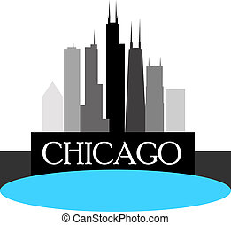 Chicago Skyline - Chicago high rise buildings skyline