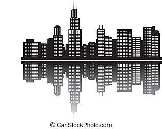 chicago skyline - Chicago USA skyline of the city