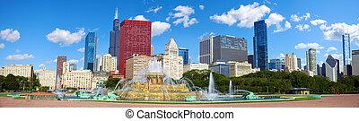 chicago, skyline, panorama