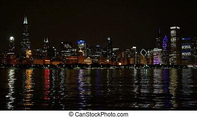 Chicago Skyline Reflected Lake