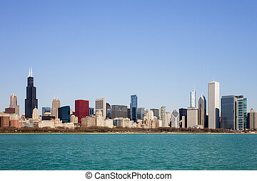 Chicago Skyline - seen from Lake Michigan