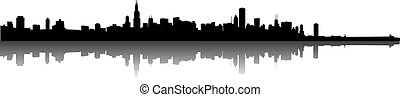 Chicago Skyline - Vector the Chicago skyline panorama...