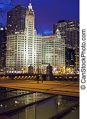 Chicago skyline with Wrigley Building