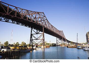 Chicago Skyway toll bridge.
