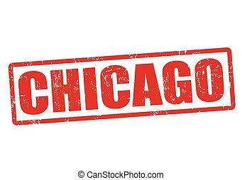 Chicago stamp - Chicago grunge rubber stamp on white, vector...