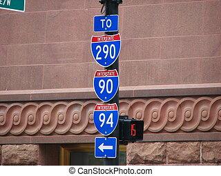 Chicago Street Signs, Illinois