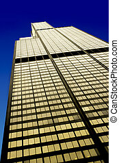 The Willis Tower in the Loop area, west facade, Chicago (Illinois)