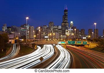 chicago, traffic.