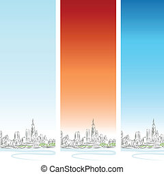 chicago, vertical, bandeira, jogo