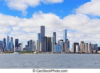 chicago, ville, horizon urbain