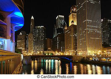 chicago, w nocy