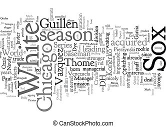 Chicago White Sox Preview text background wordcloud concept