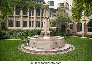 CHICAGO,IL - SEPTEMBER 7, 2009: The Fourth Presbyterian Church of Chicago was founded in February 1871. Picture taken on September 7 , 2009.