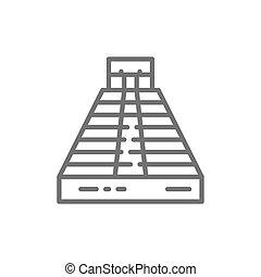 chichen, ピラミッド, itza, kukulkan, tulum, teotihuacan, palenque...