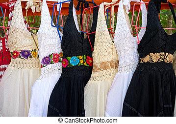 Chichen itza embroided dresses Mexico - Chichen itza...
