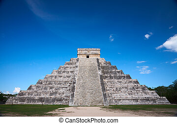 Chichen Itza, Mexico, one of the New Seven Wonders of the...