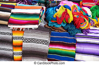 Chichen itza serape in outdoor shop - Chichen itza serape...