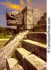 Chichen Itza, snake head