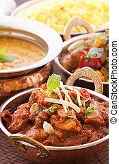 chichen, madras, com, sopa lentilha