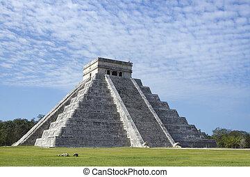 chichen, maya, ruines, itza, mexique