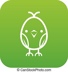 Chick icon green vector