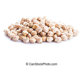 chick-pea heap isolated on the white background