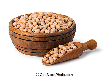 chick pea isolated on a white background