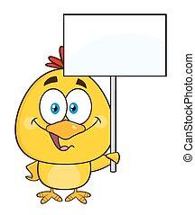 chick, smil, karakter, gul