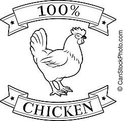 Chicken 100 percent label