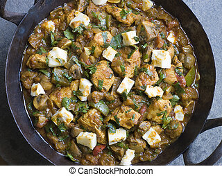 Chicken and Paneer Balti