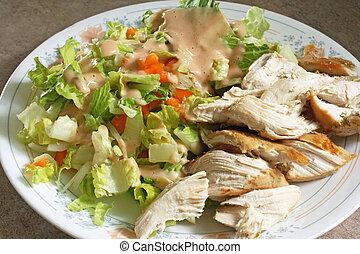 Chicken And Salad Diet Plate