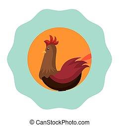 chicken animal farm icon