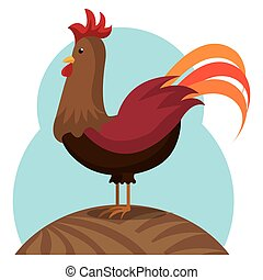 chicken animal farm icon