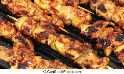 Chicken Barbecue in Coal Fire