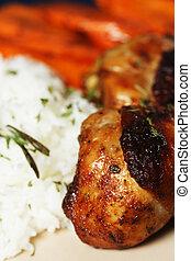 chicken, barbeque