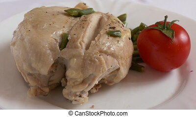 chicken Breast and Tomato - Chicken breast with tomatoe on a...