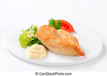 Chicken breast fillet with mayonnaise