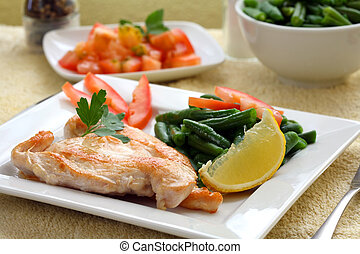 Chicken breast - Roasted chicken medallions with vegetable